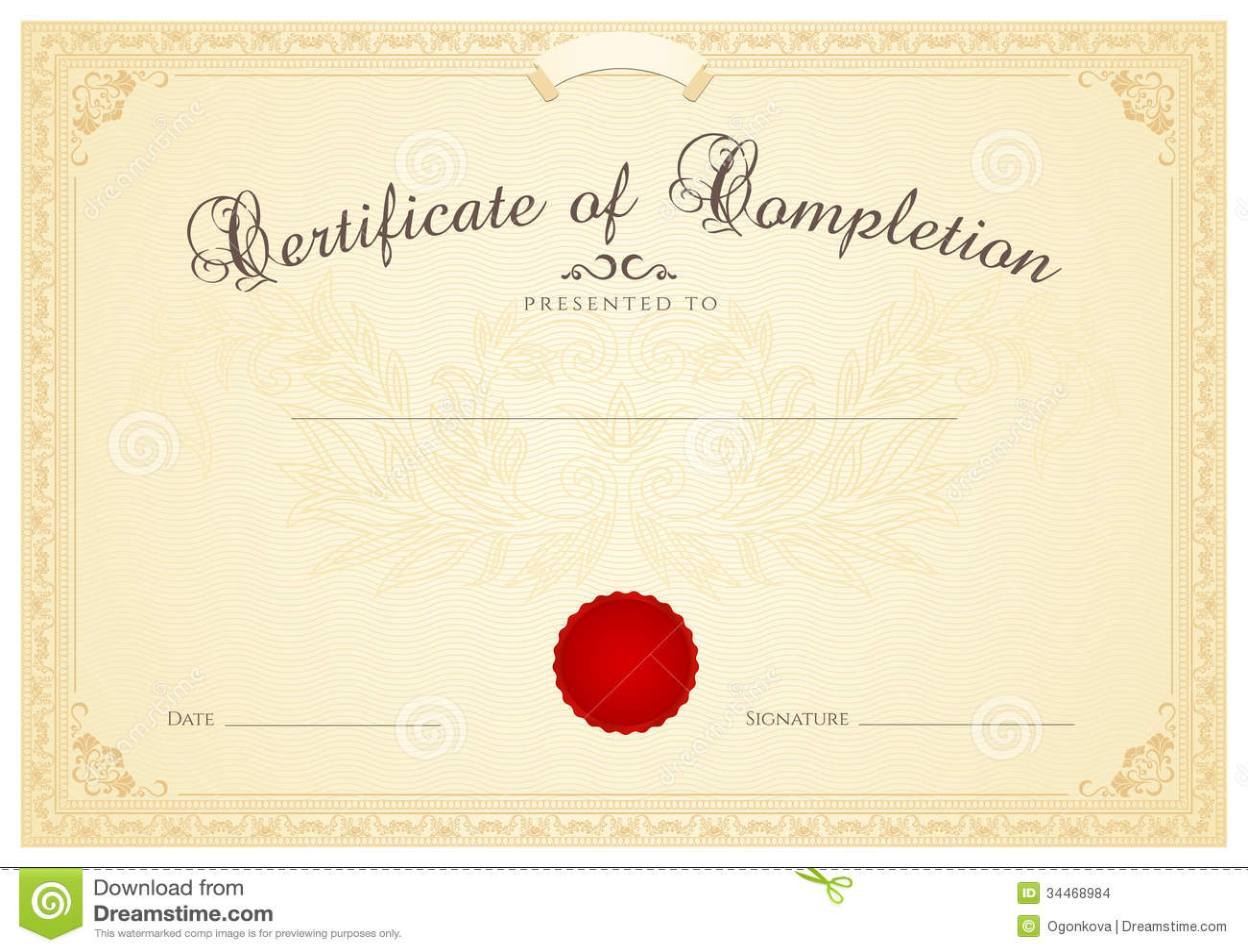 certificate seal template