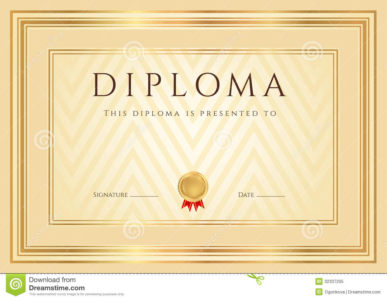 Certificate diploma background template frame cartoon vector certificate diploma background template frame cartoon vector cartoondealer 32337205 alramifo Images