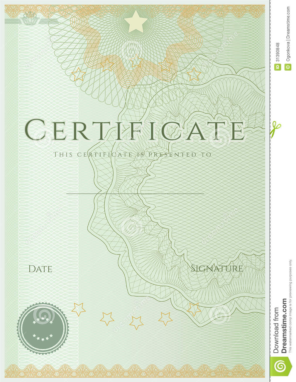 Certificate Diploma Background Template Pattern Royalty Free