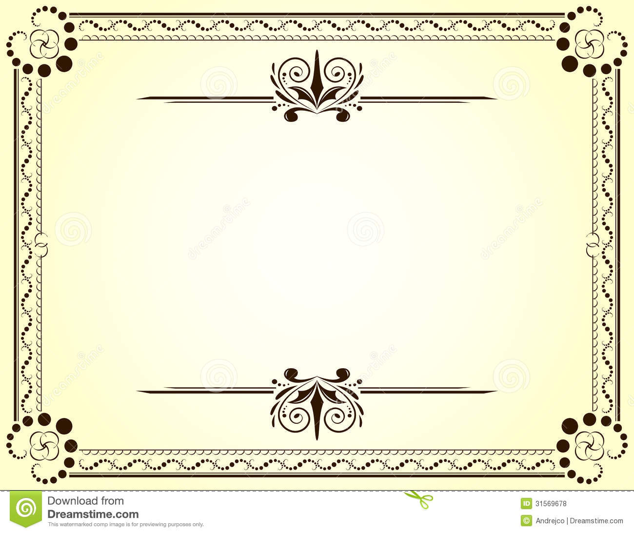 Certificate Stock Vector Illustration Of Nobody Frame 31569678