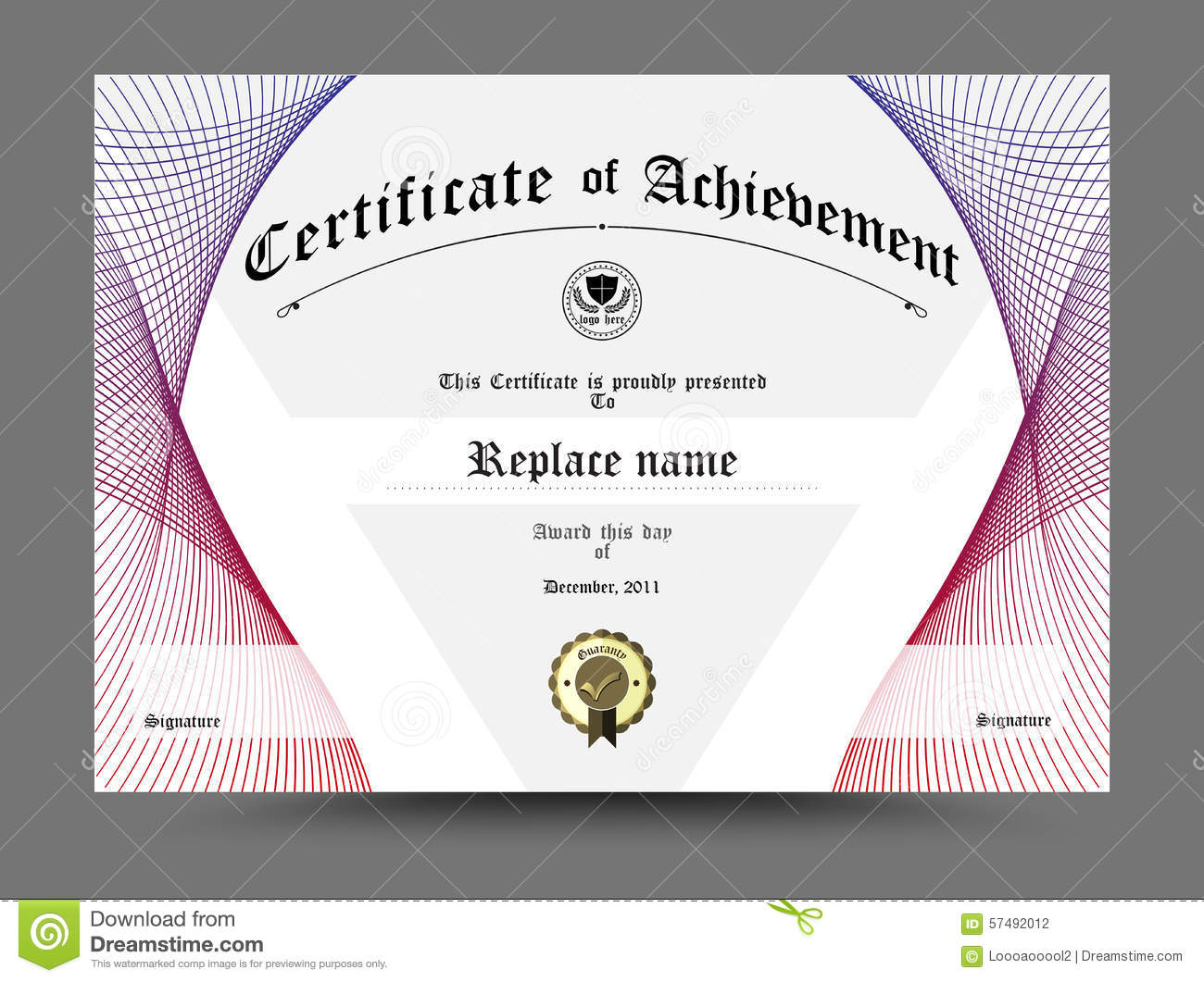 certificate  diploma of completion  certificate of
