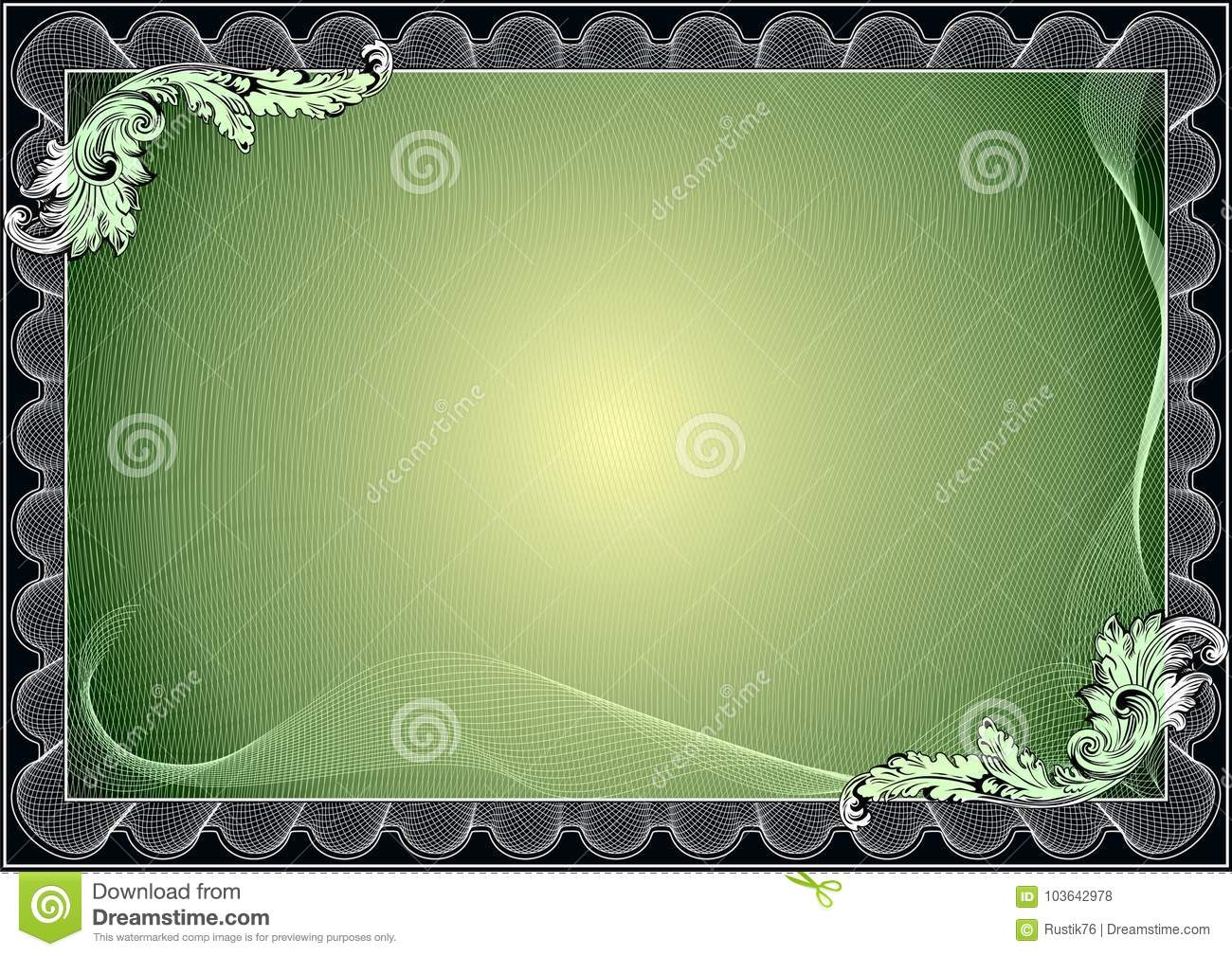 certificate diploma template award pattern stock illustration