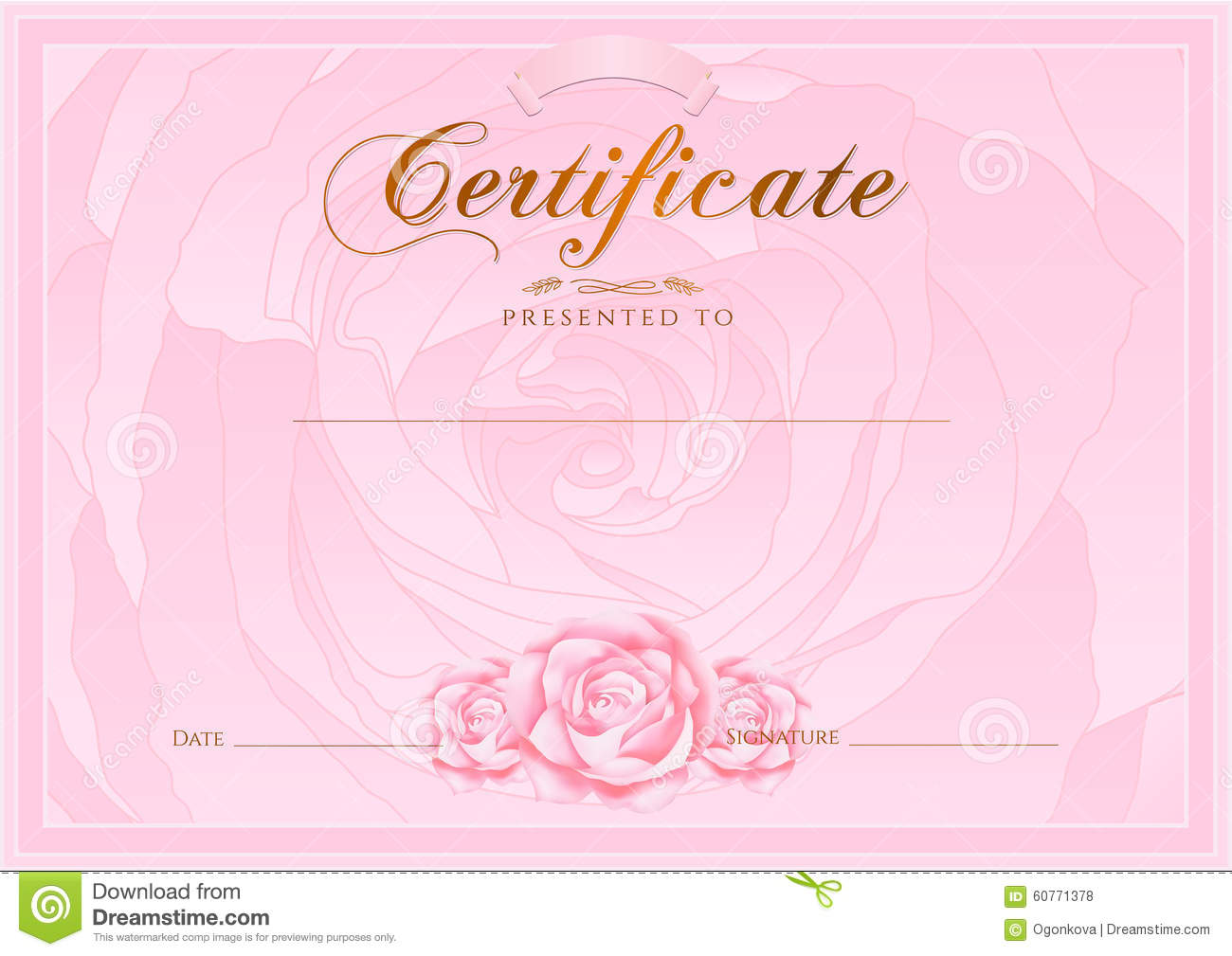 Certificate Frame Diploma Award Background Stock Photo - Image of ...