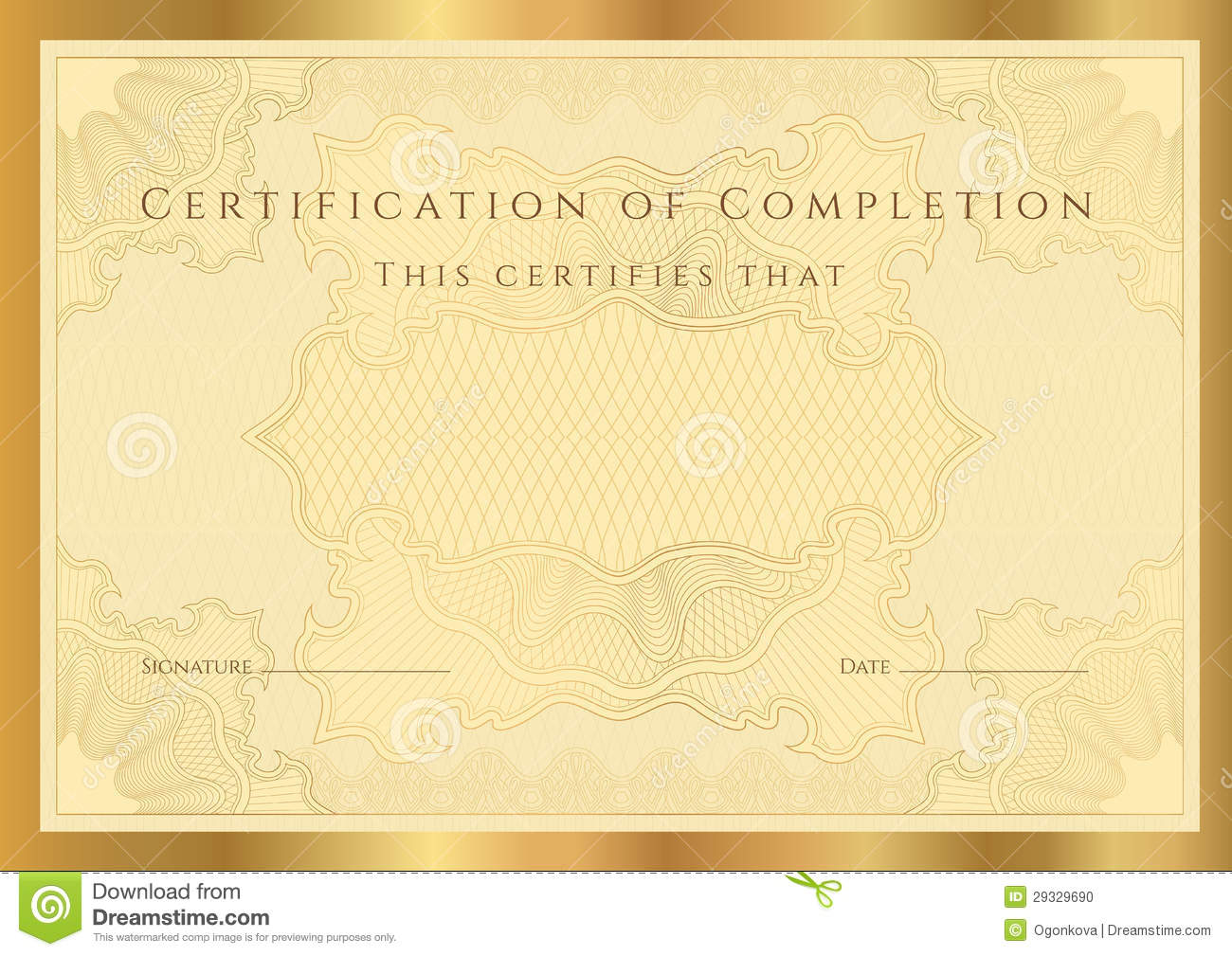 Birth certificate template free download certificate diploma of completion template stock photo image 1betcityfo Gallery