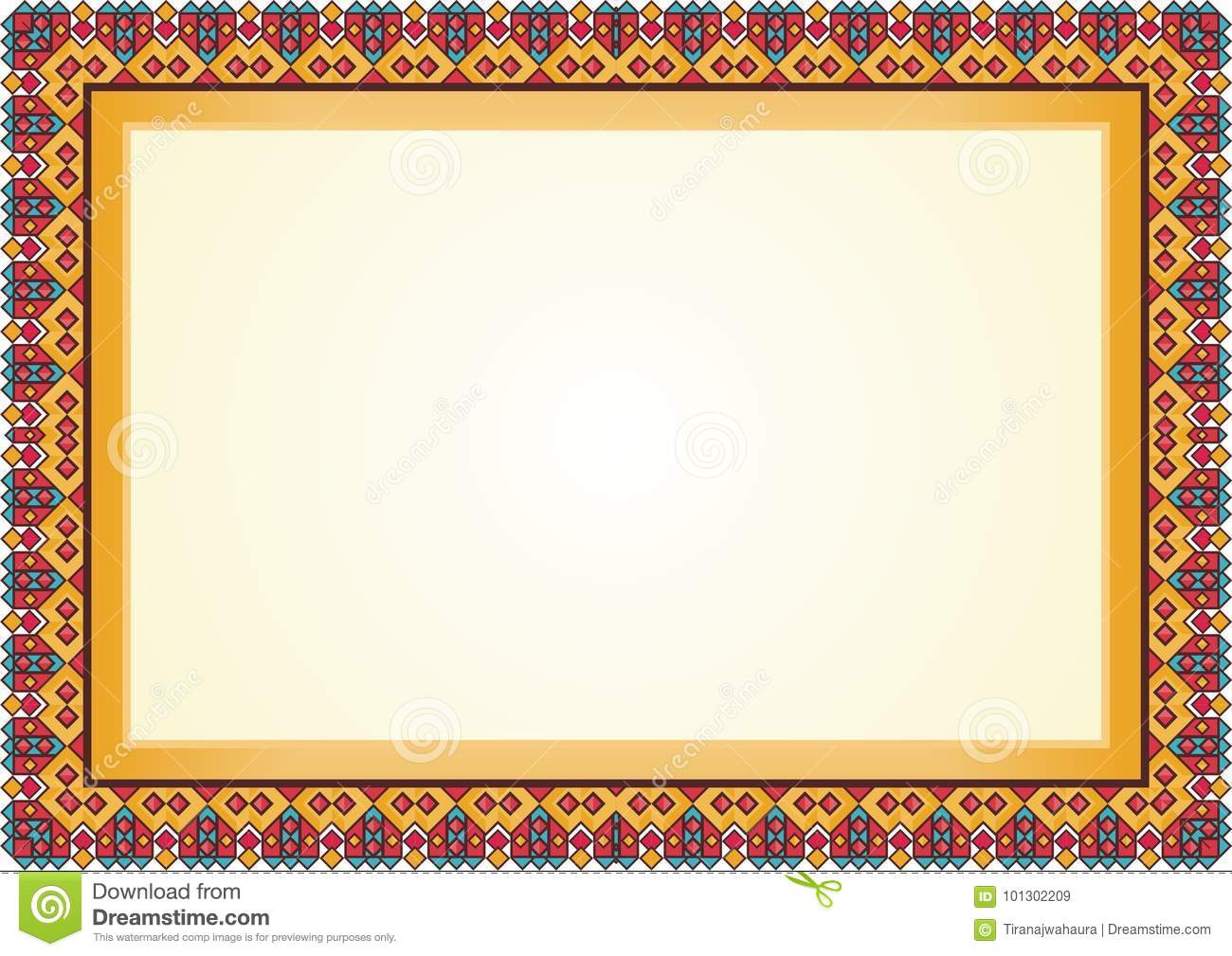 Certificate Diploma Frame Border Stock Vector Illustration Of