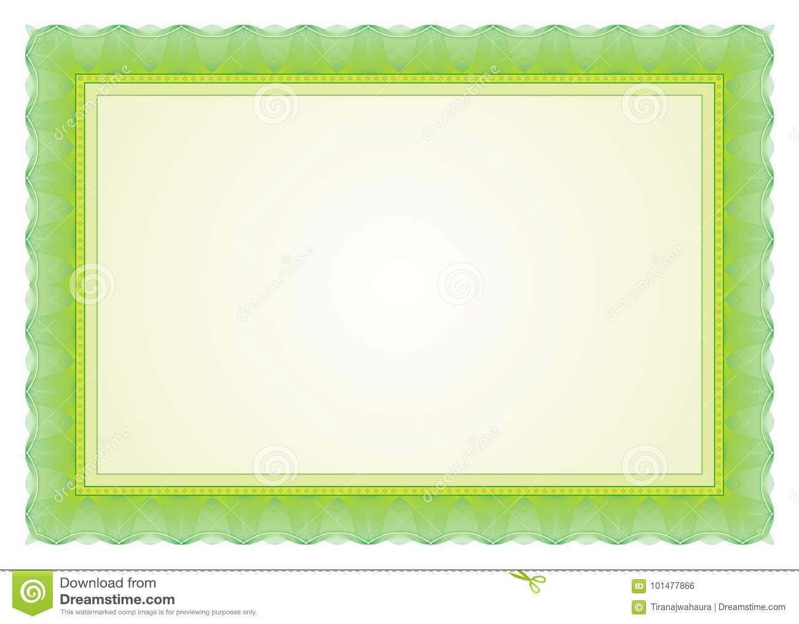 Certificate Frame Border Stock Vector Illustration Of Decoration