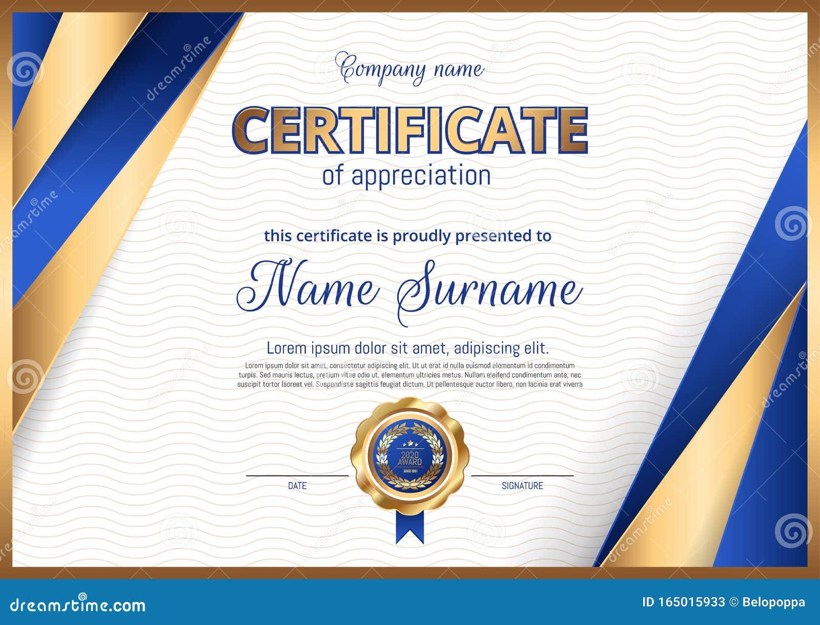 landscape certificate luxury diploma orientation premium elegant