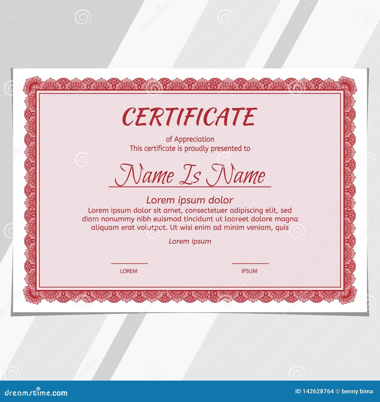 Certificate Diploma Landscape Stock Vector - Illustration ...