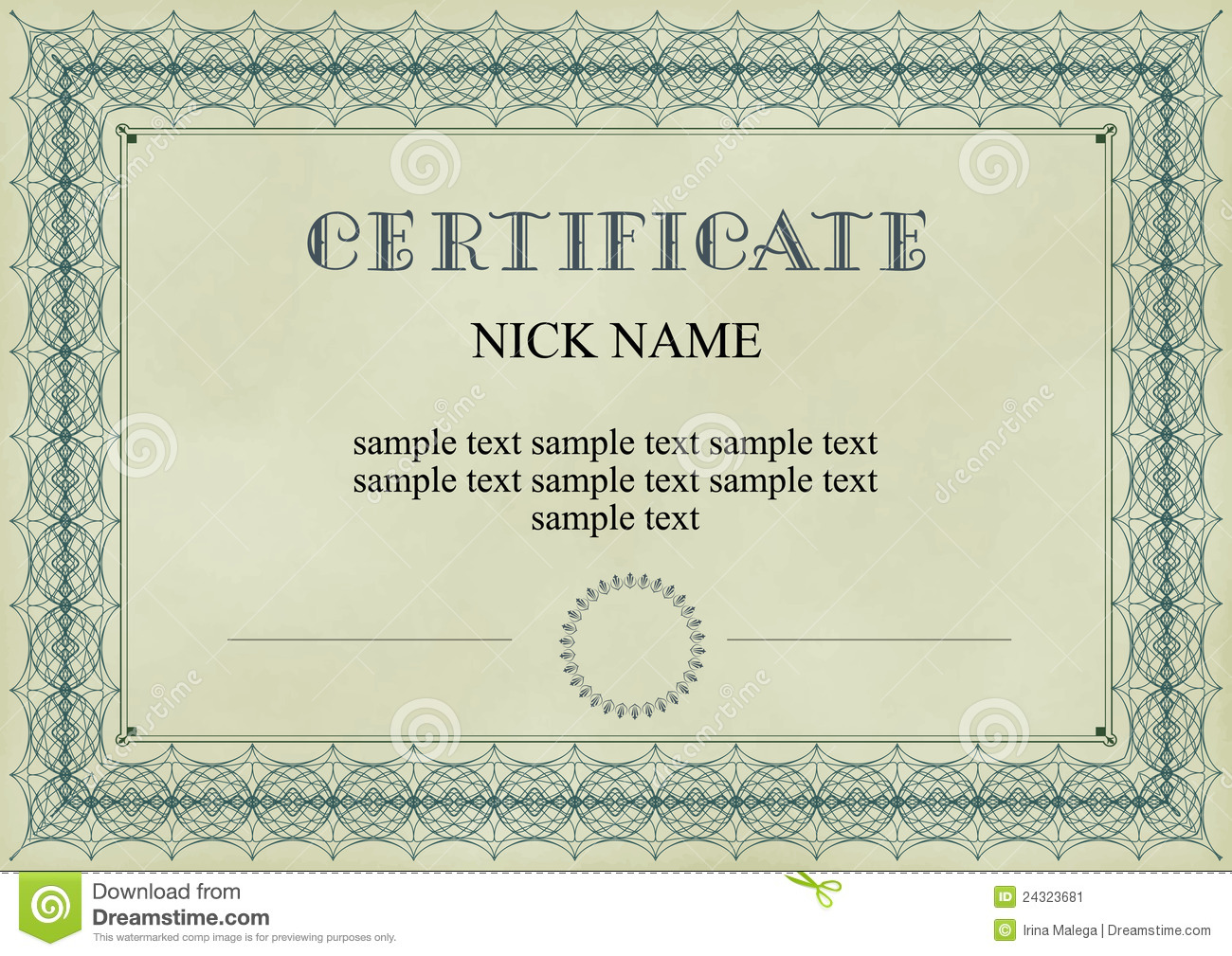 Certificate, Diploma For Print Stock Image - Image of ...