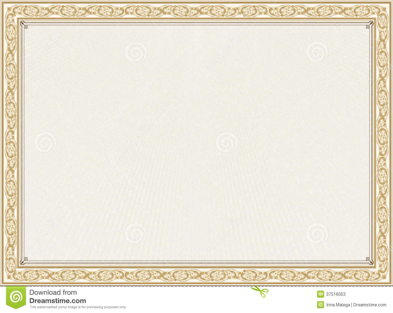 Certificate, Diploma For Print Stock Photos - Image: 37516053