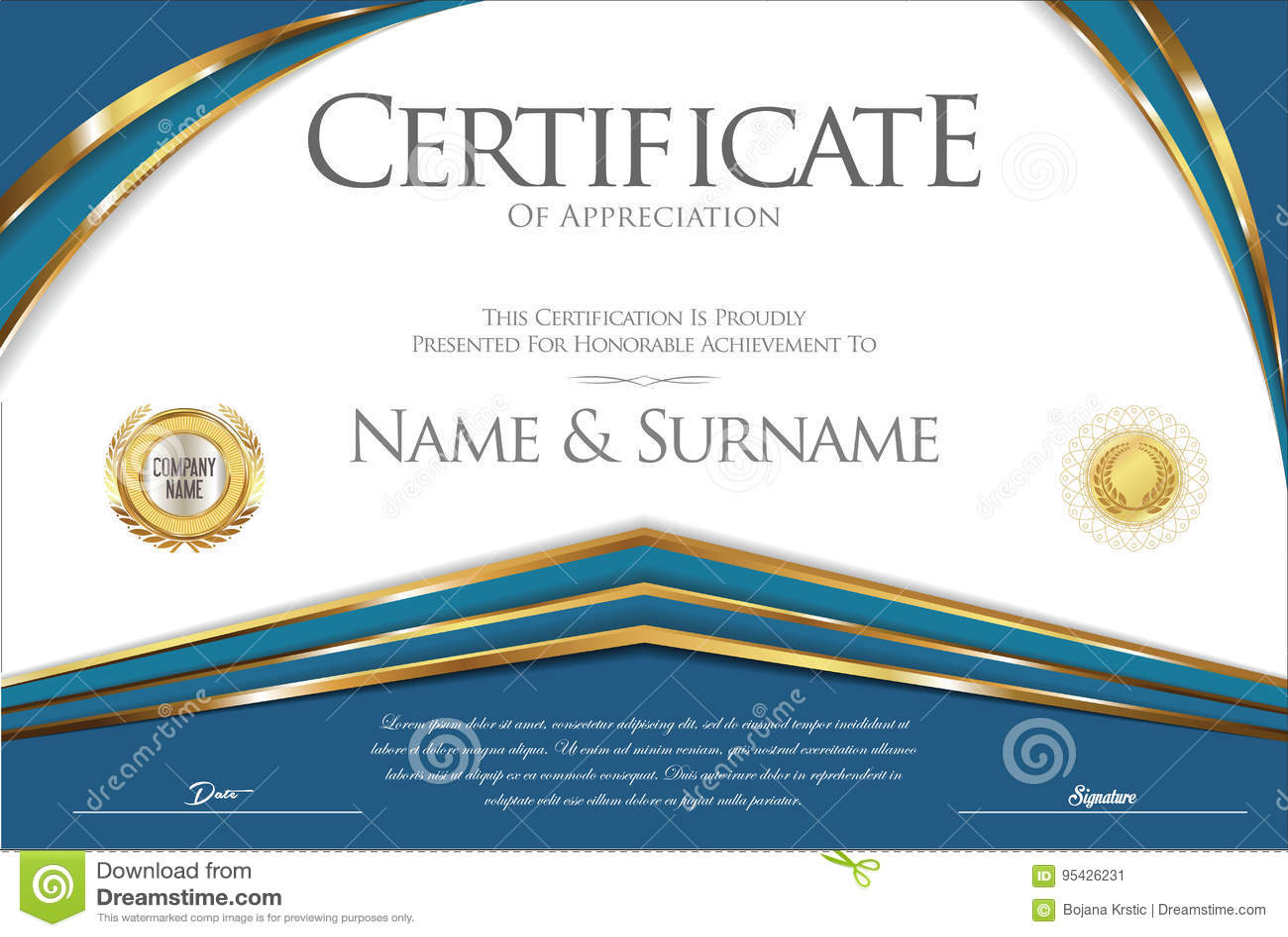 Design Vintage Bank.Certificate Or Diploma Retro Design Stock Vector Illustration Of