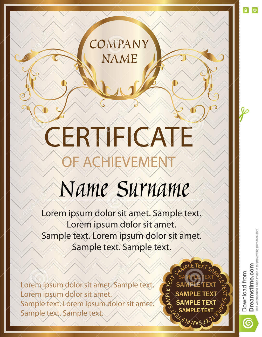 certificate or diploma template award winner