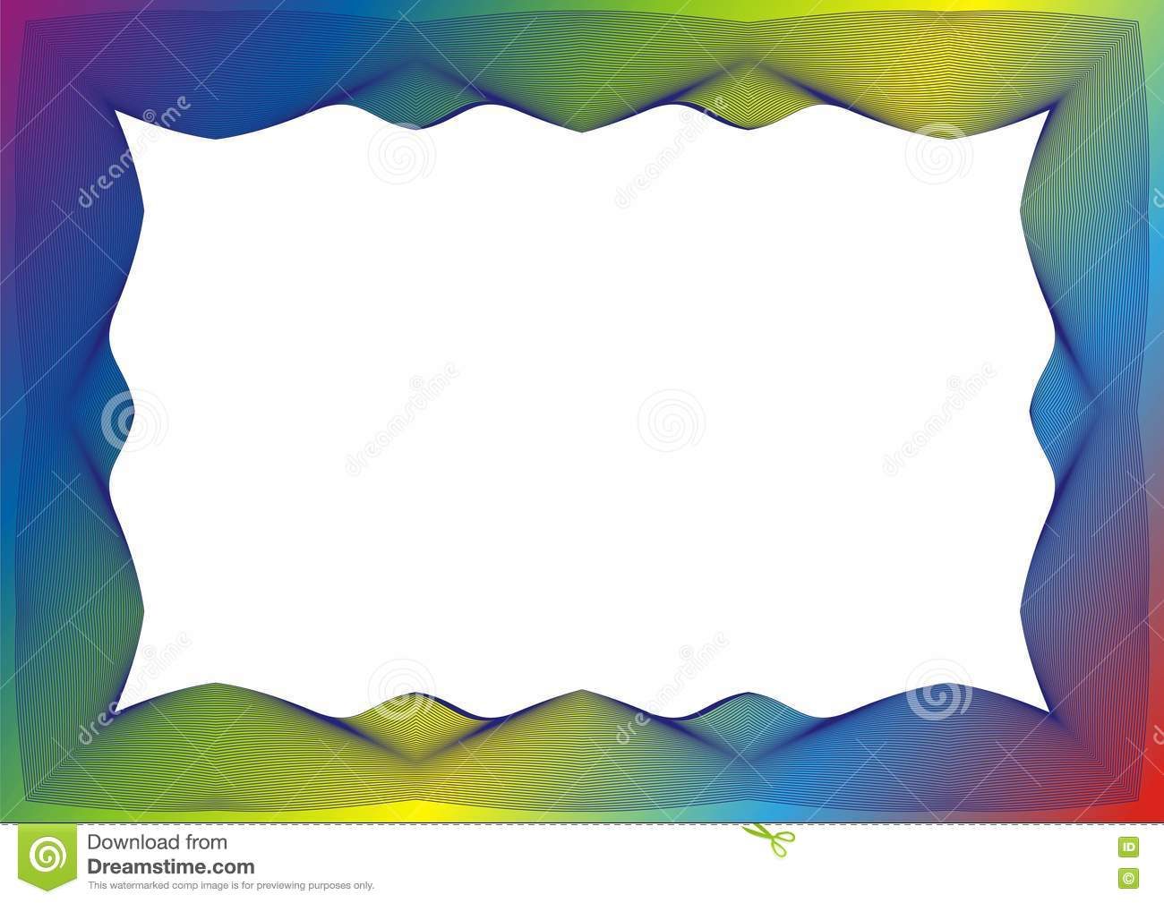 Certificate Or Diploma Template With Rainbow Frame Stock ...