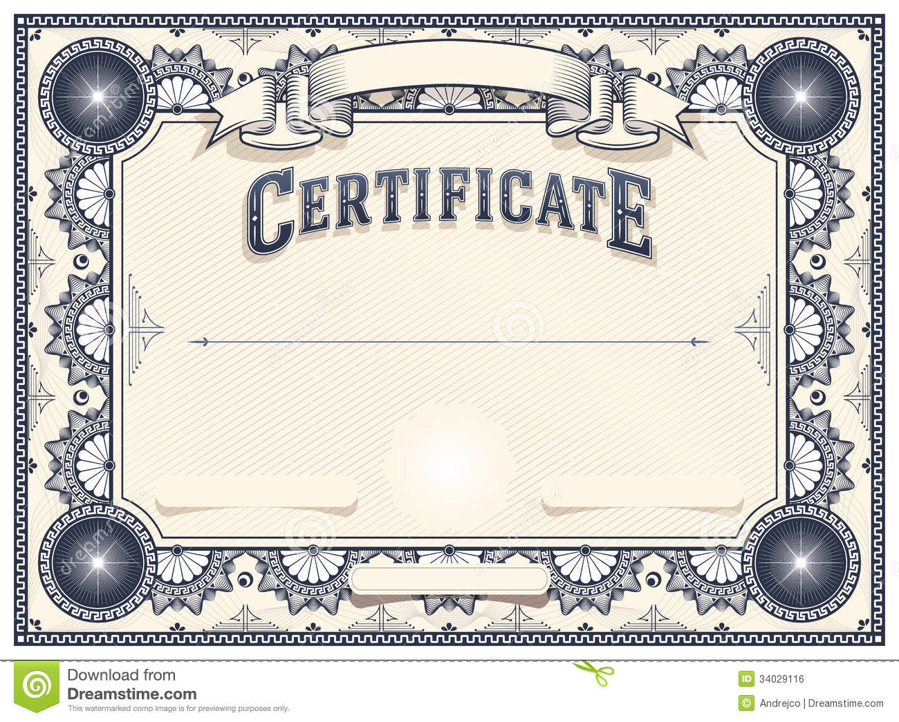 Certificate Or Diploma Template Stock Vector Illustration Of