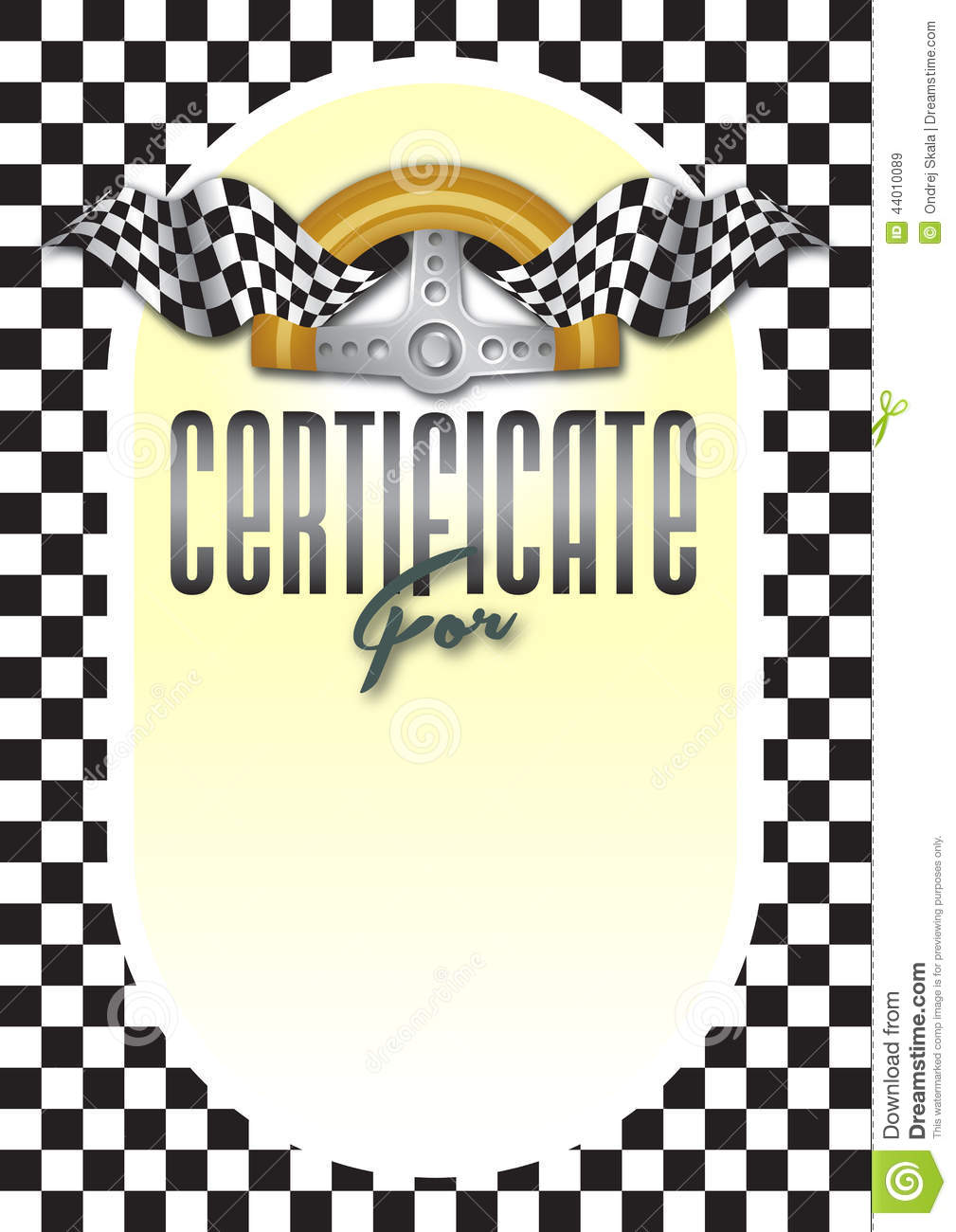 Stock Illustration Certificate Diploma Winner Ch ionship Checkerboard Motif Steering Wheel To Motorsport Motorsports Race Go Image44010089 on race car flag printable
