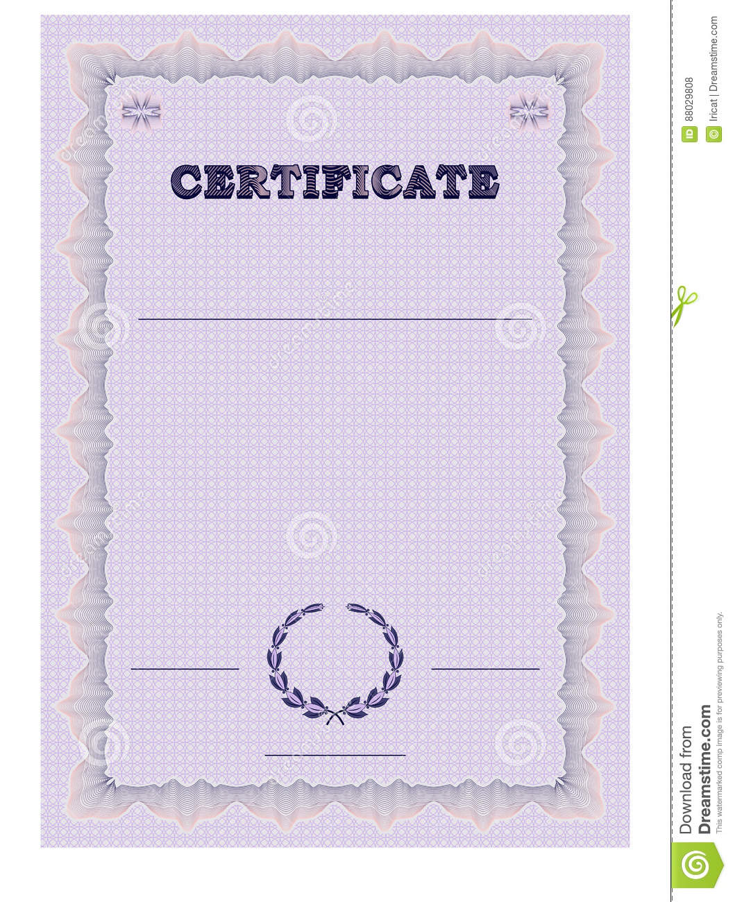 Certificate form template with guilloche background and guilloche certificate form template with guilloche background and guilloche elements yelopaper Choice Image