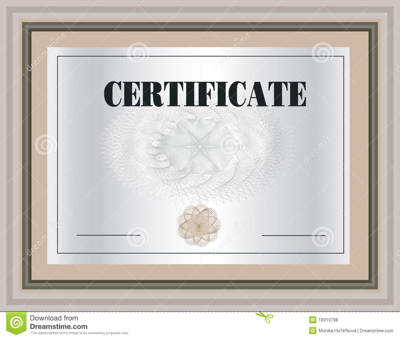 Certificate Frame stock vector. Illustration of coupon ...