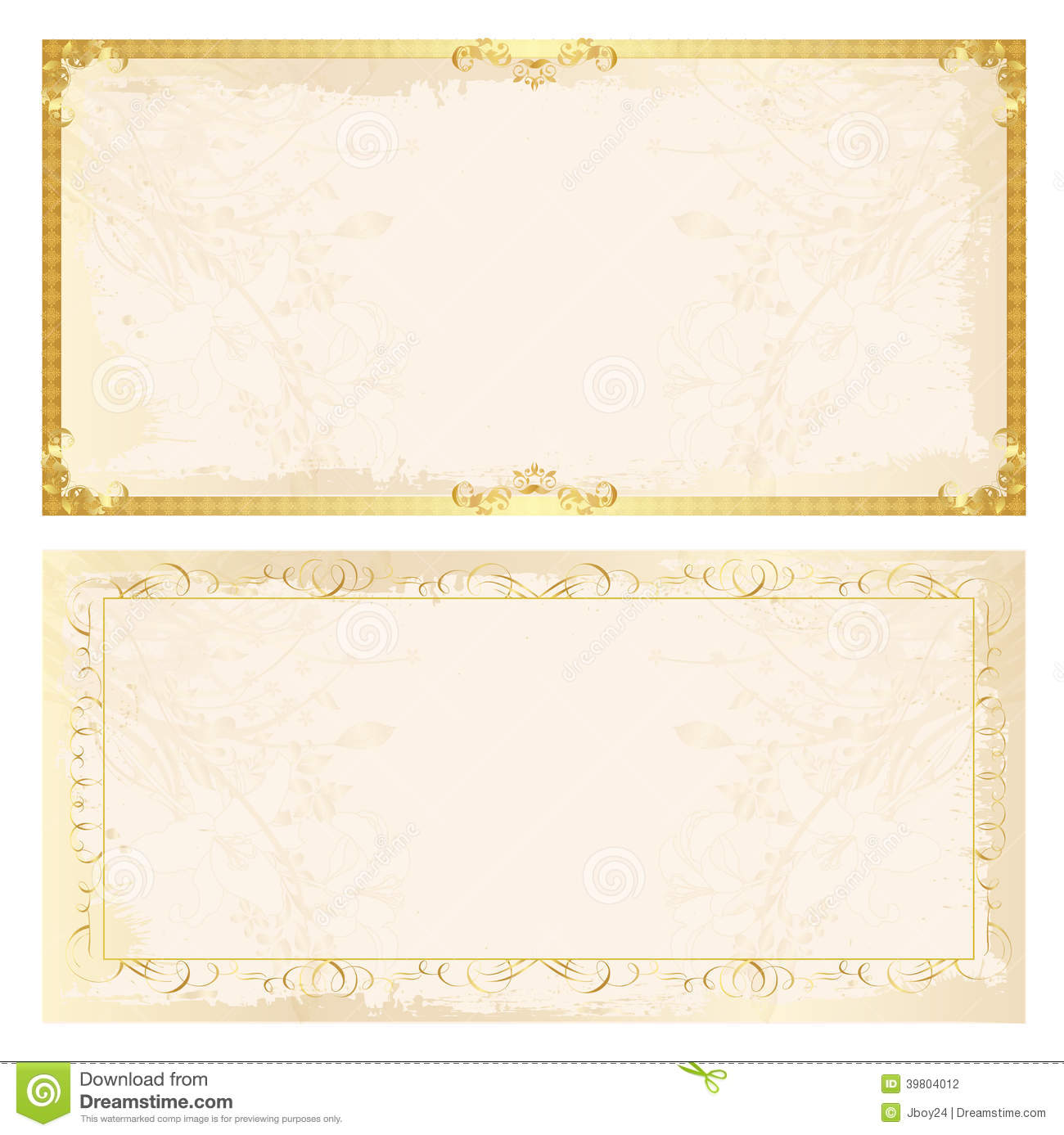 Certificate Frame Background Stock Vector - Image: 39804012