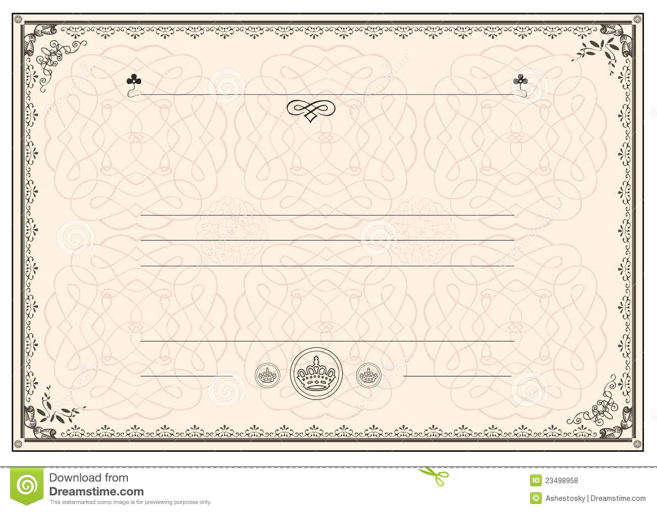 Certificate frame border stock vector illustration of studies certificate frame border yadclub Image collections