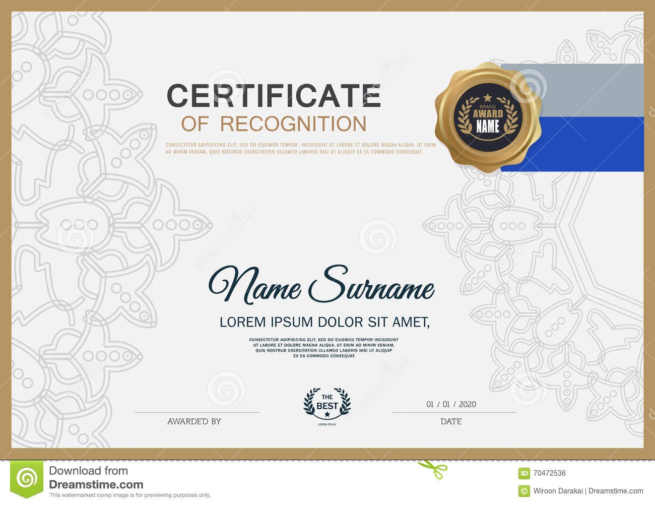 royaltyfree vector download certificate frame