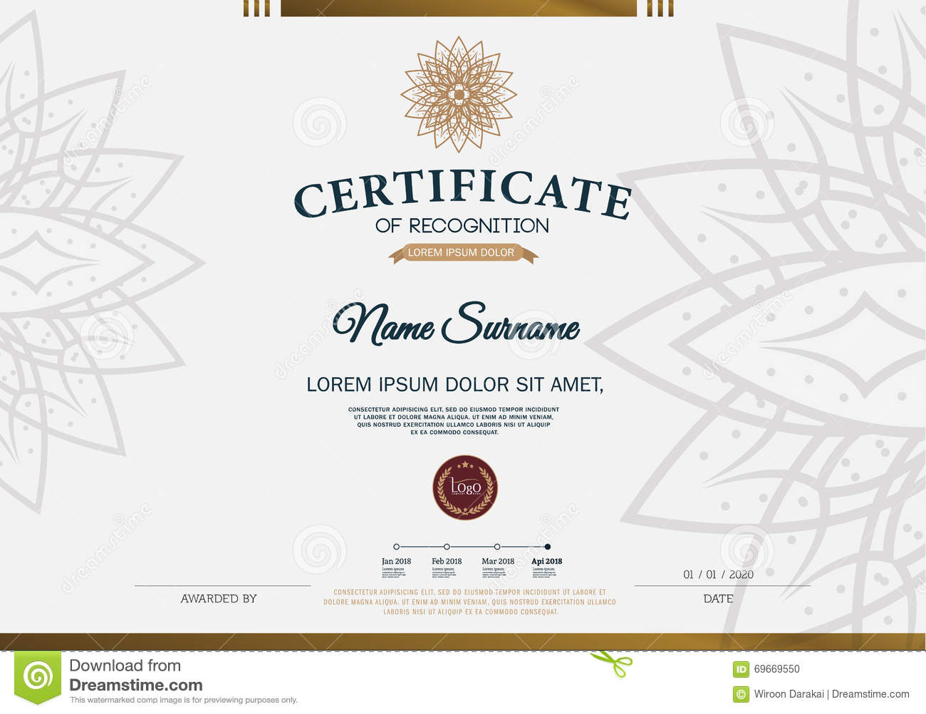 Certificate frame design template layout template in a4 size stock certificate frame design template layout template in a4 size xflitez Gallery