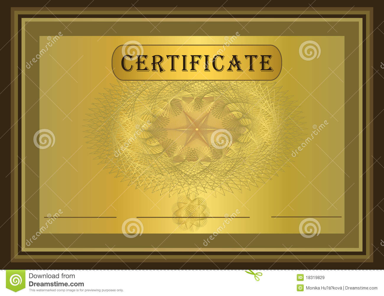 Certificate Gold Brown stock vector. Illustration of ...