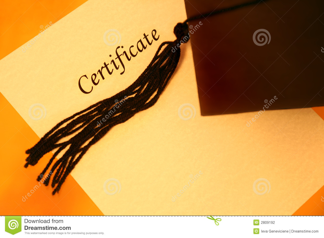 Certificate And Graduation Cap Stock Photography - Image ...