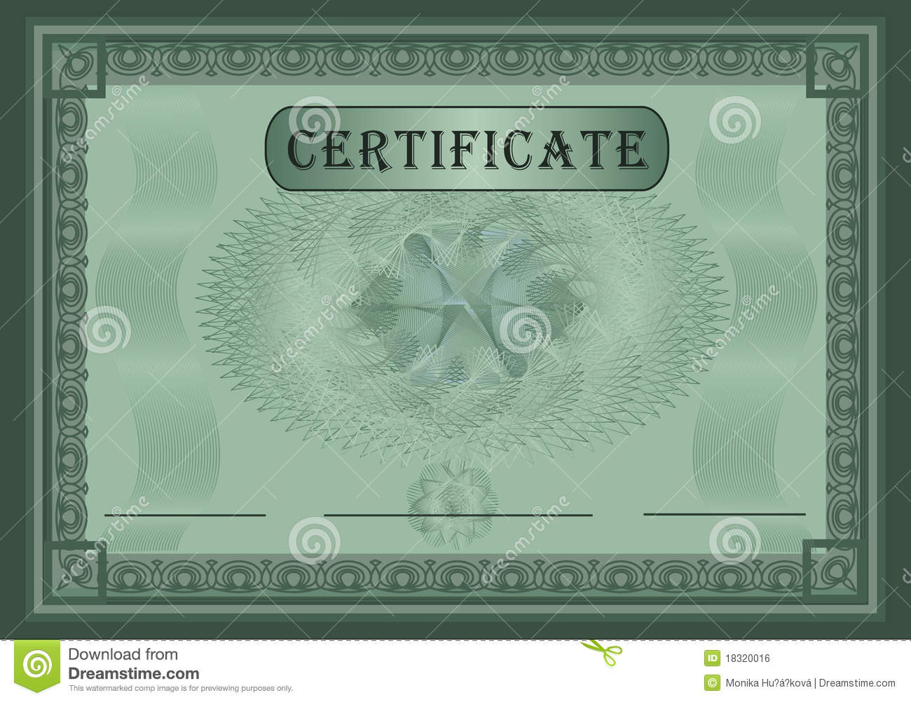 Certificate Green Stock Vector Illustration Of Security