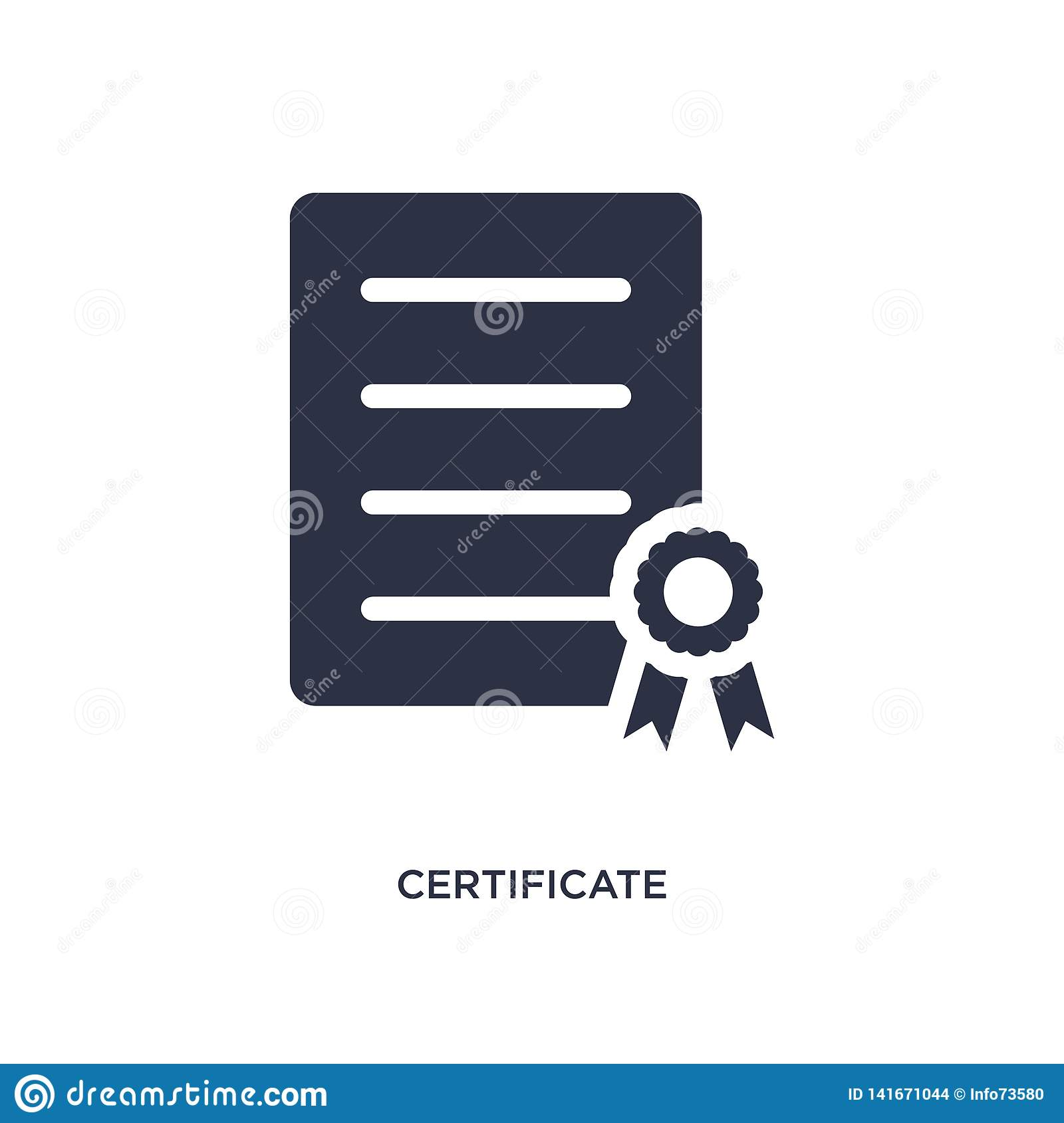 certificate icon on white background. Simple element illustration from delivery and logistic concept