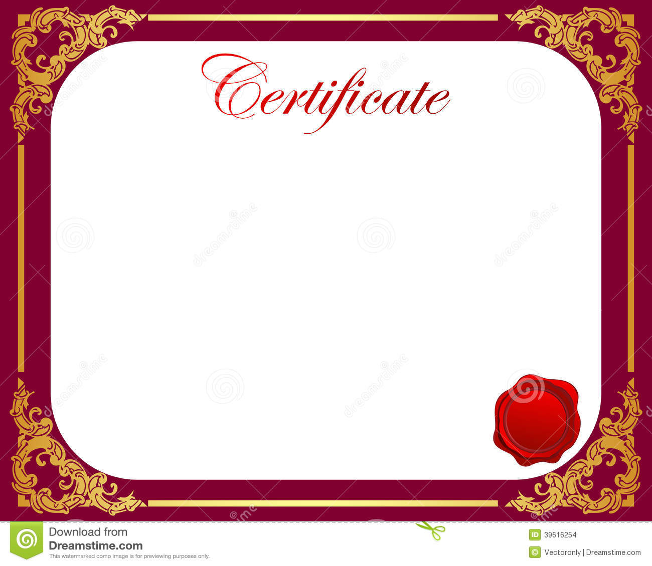 Certificate Stock Vector Illustration Of Effort