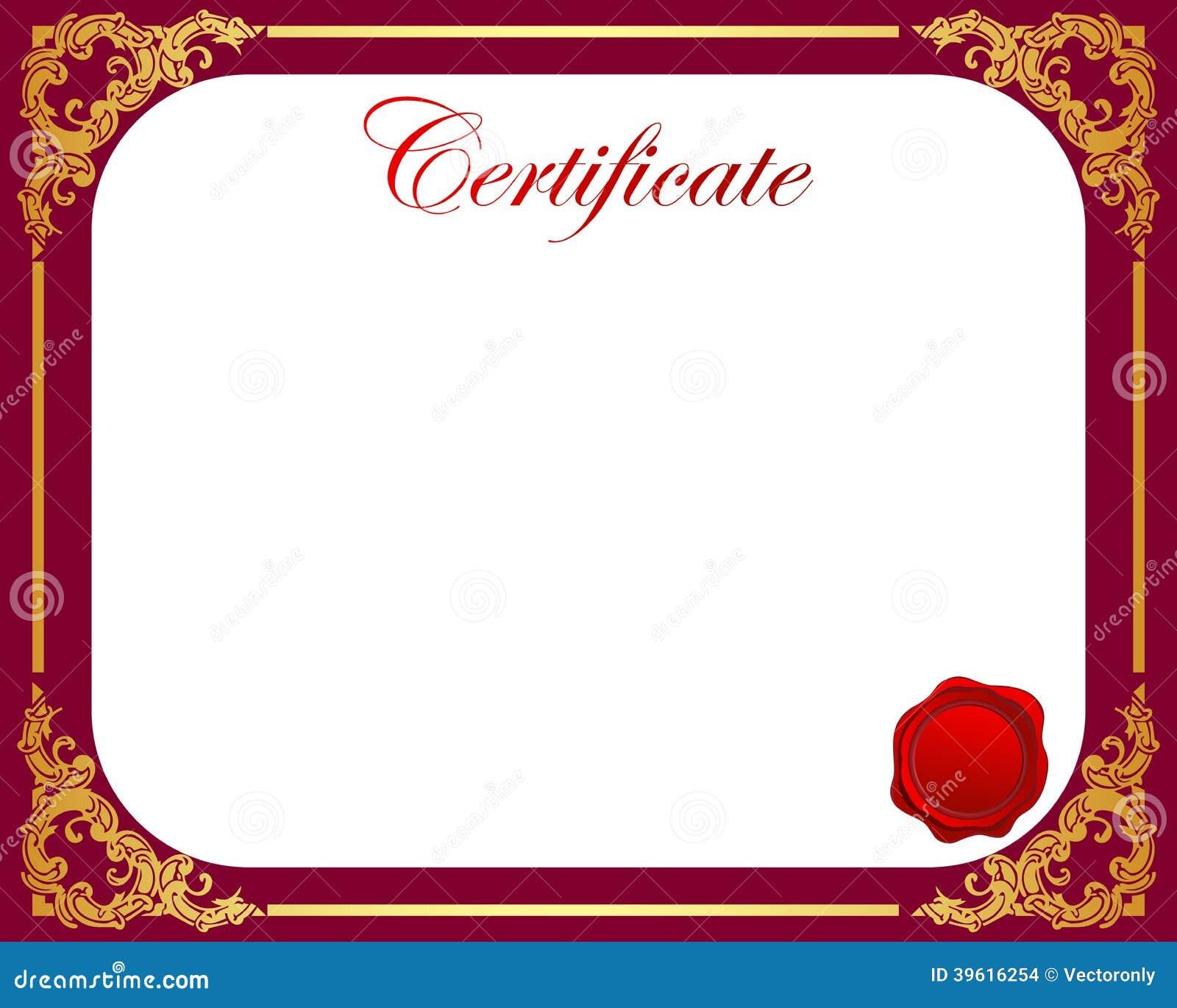 Certificate Stock Vector - Image: 39616254
