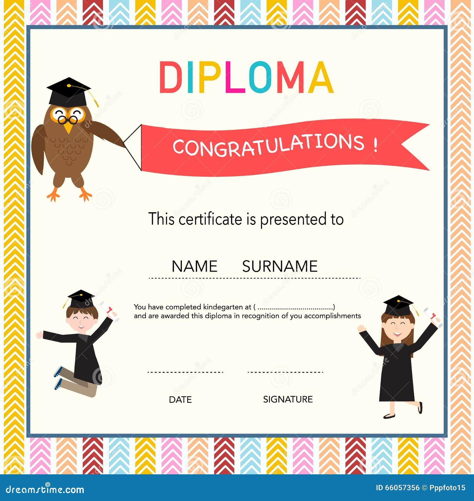 Template For Graduation Certificate