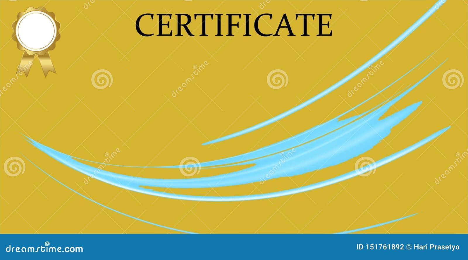 Certificate o molde com teste padr?o luxuoso e moderno, diploma Ilustra??o do vetor