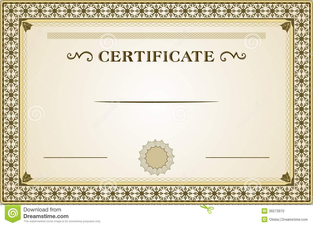 Certificate Stock Vector Illustration Of Elegant