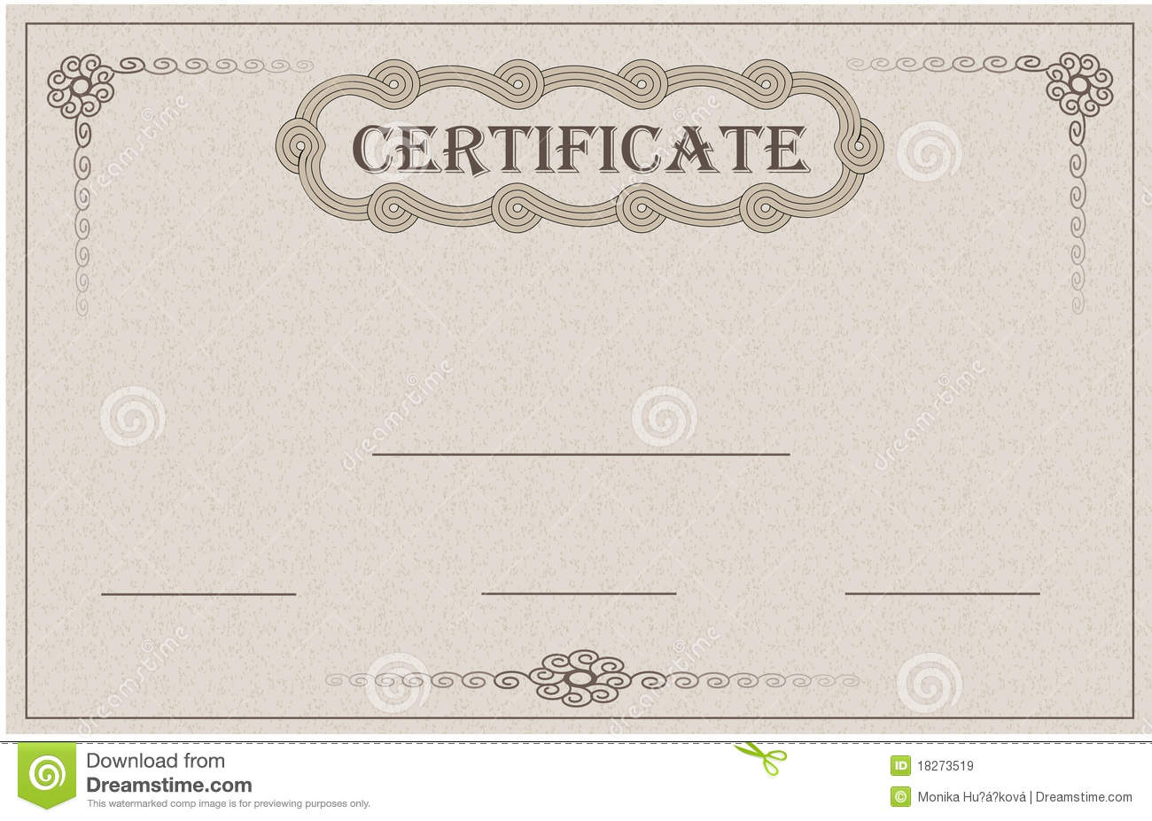 Certificate Paper Card Stock Vector Illustration Of Packaging