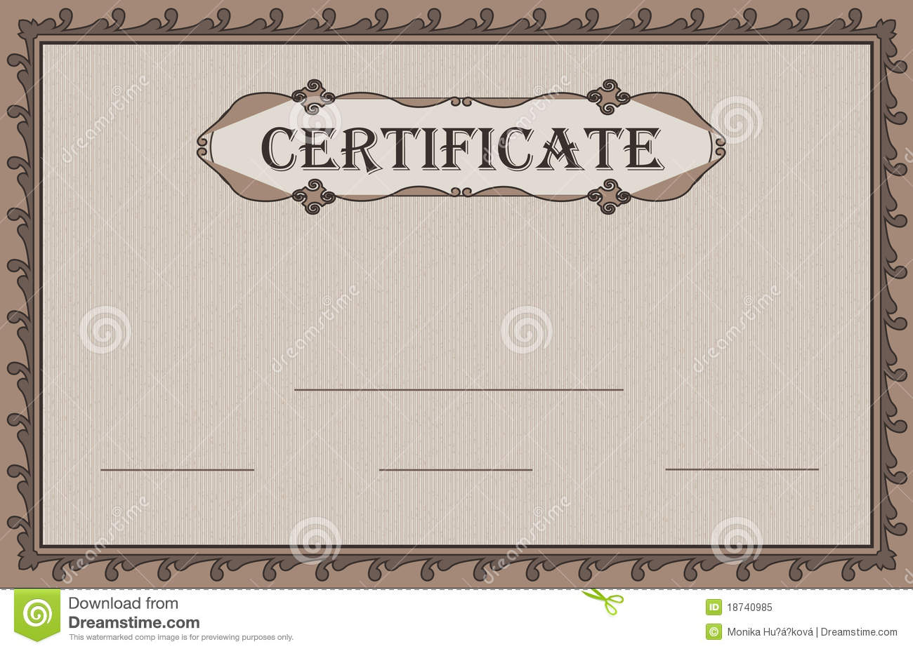 Certificate Paper Nature Royalty Free Stock Photo - Image ...