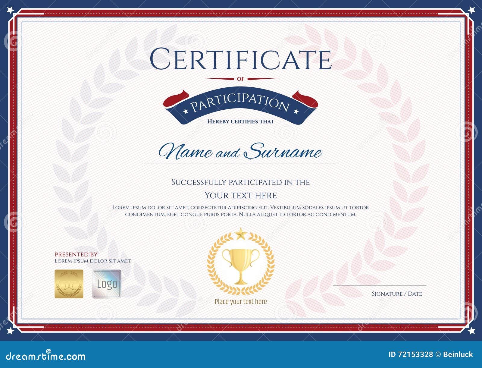 Sports Certificates Professional Certificate Templates Mandegarfo
