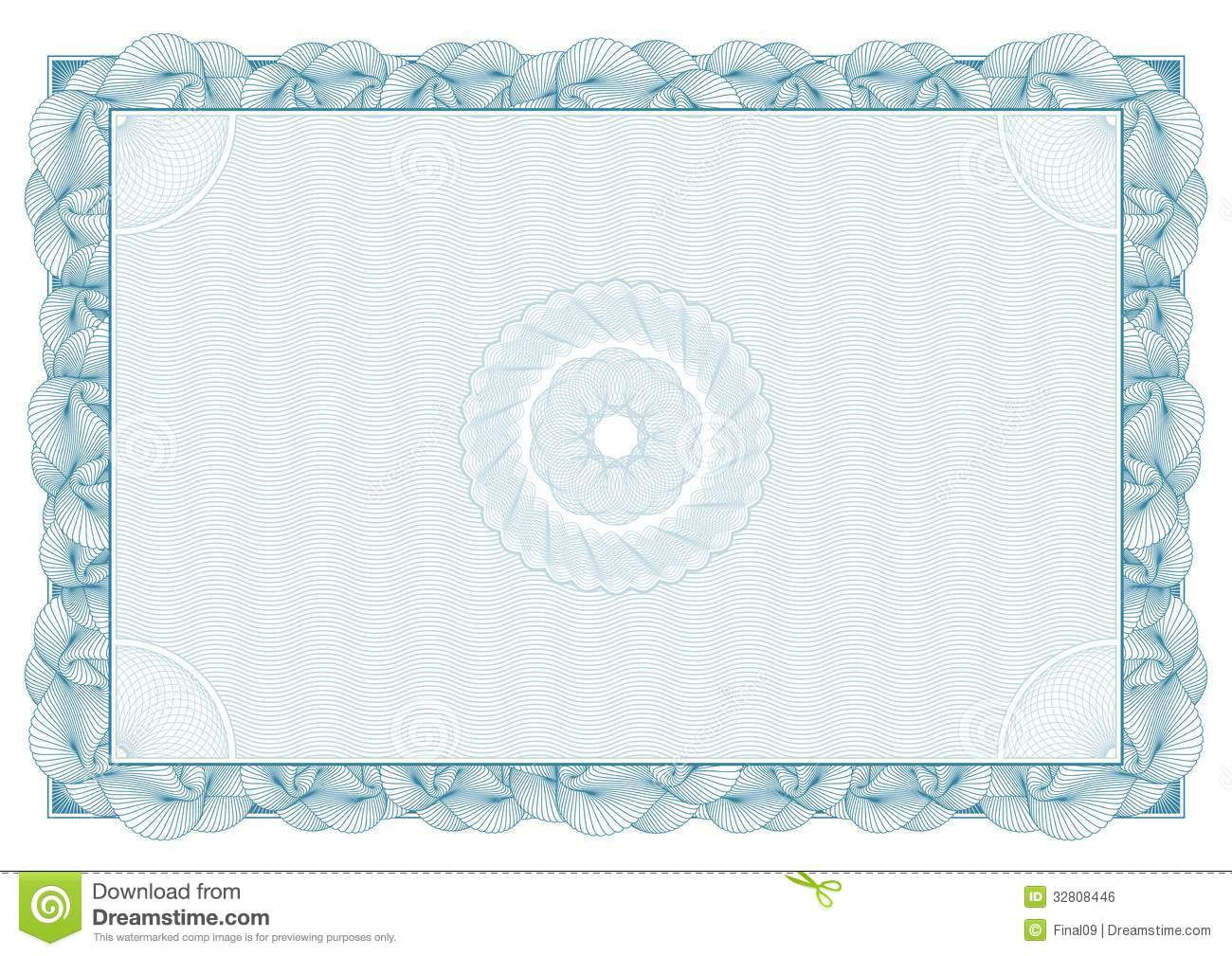 Certificate. Pattern For Currency And Diplomas Royalty ...