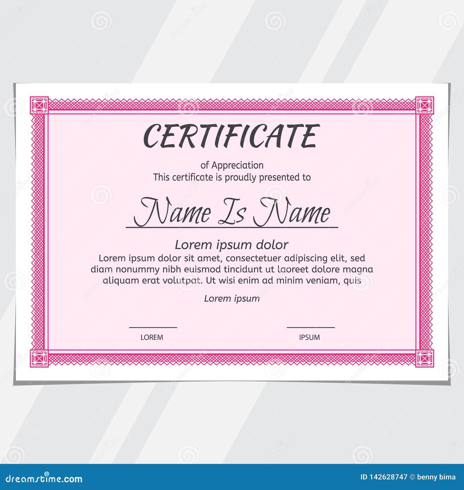 Certificate Diploma Landscape Design Stock Vector ...