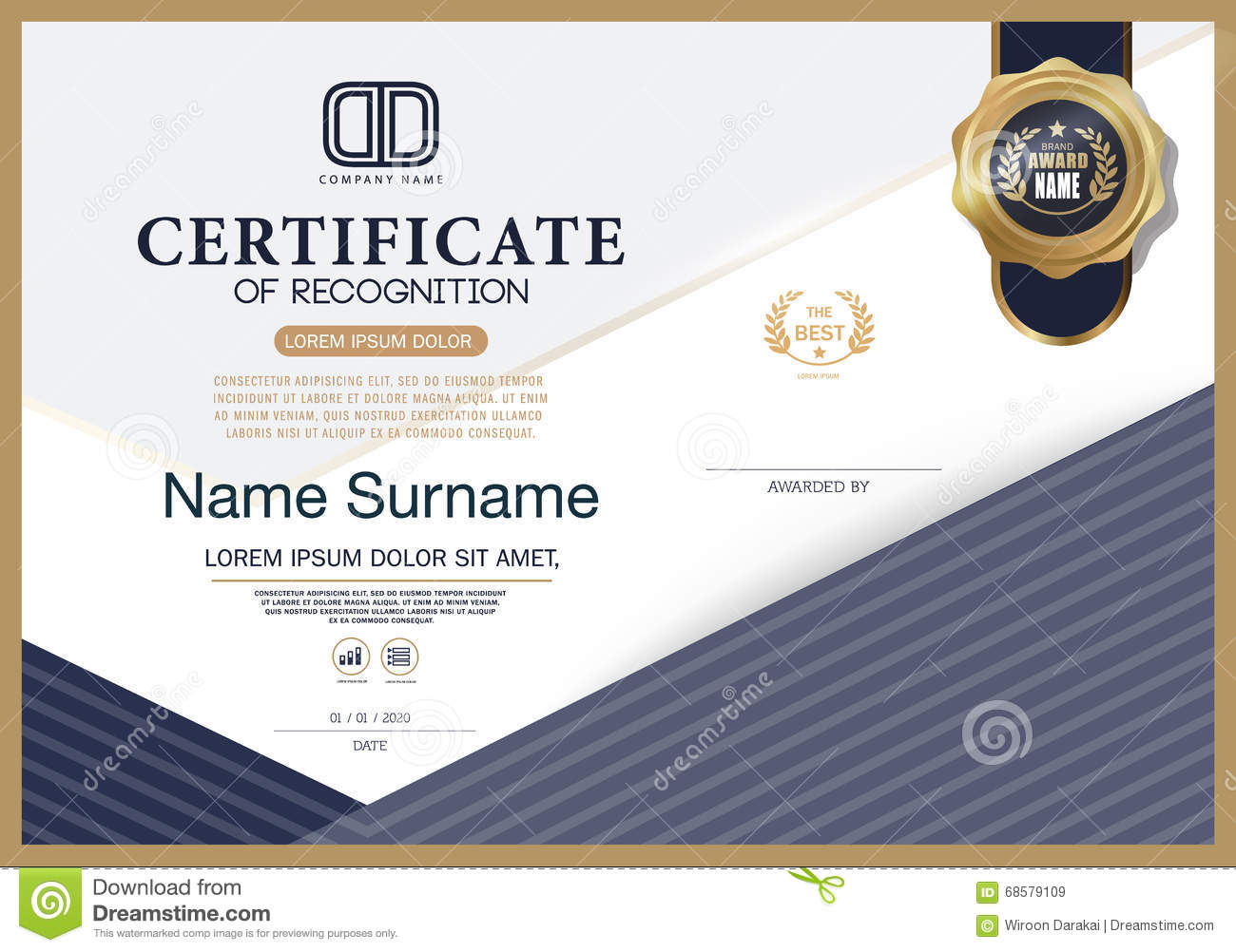 Certificate Of Recognition Template - mandegar.info
