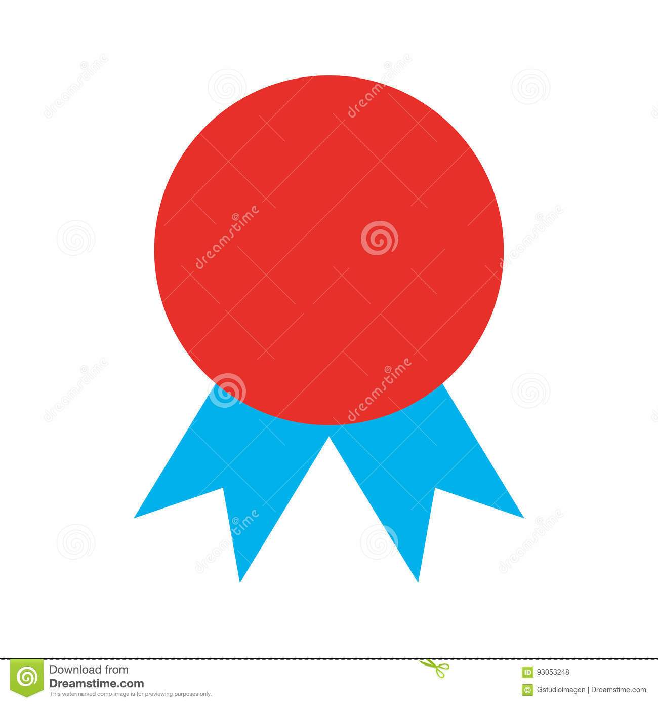 Certificate Seal Isolated Icon Stock Vector Illustration Of Label