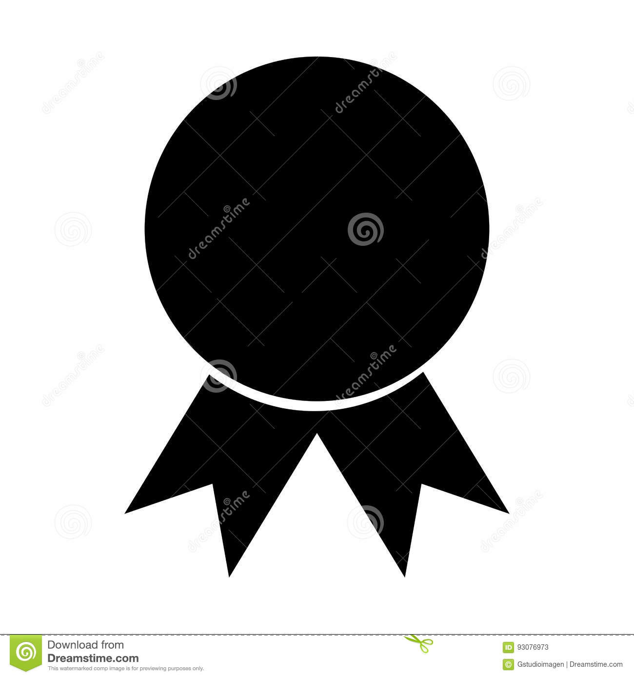 Certificate Seal Isolated Icon Stock Vector Illustration Of