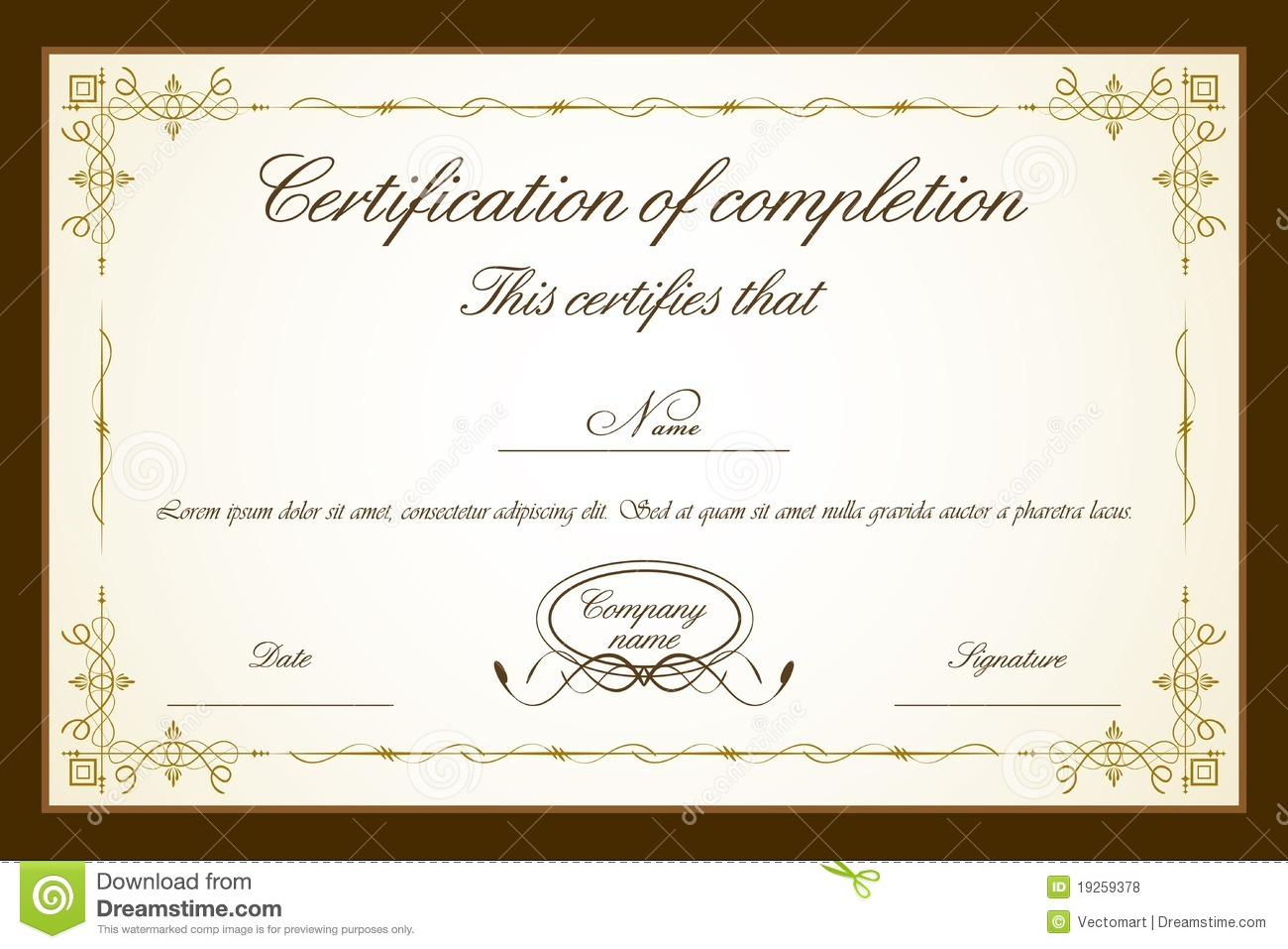 Downloadable Certificate Template word templates for proposals ...