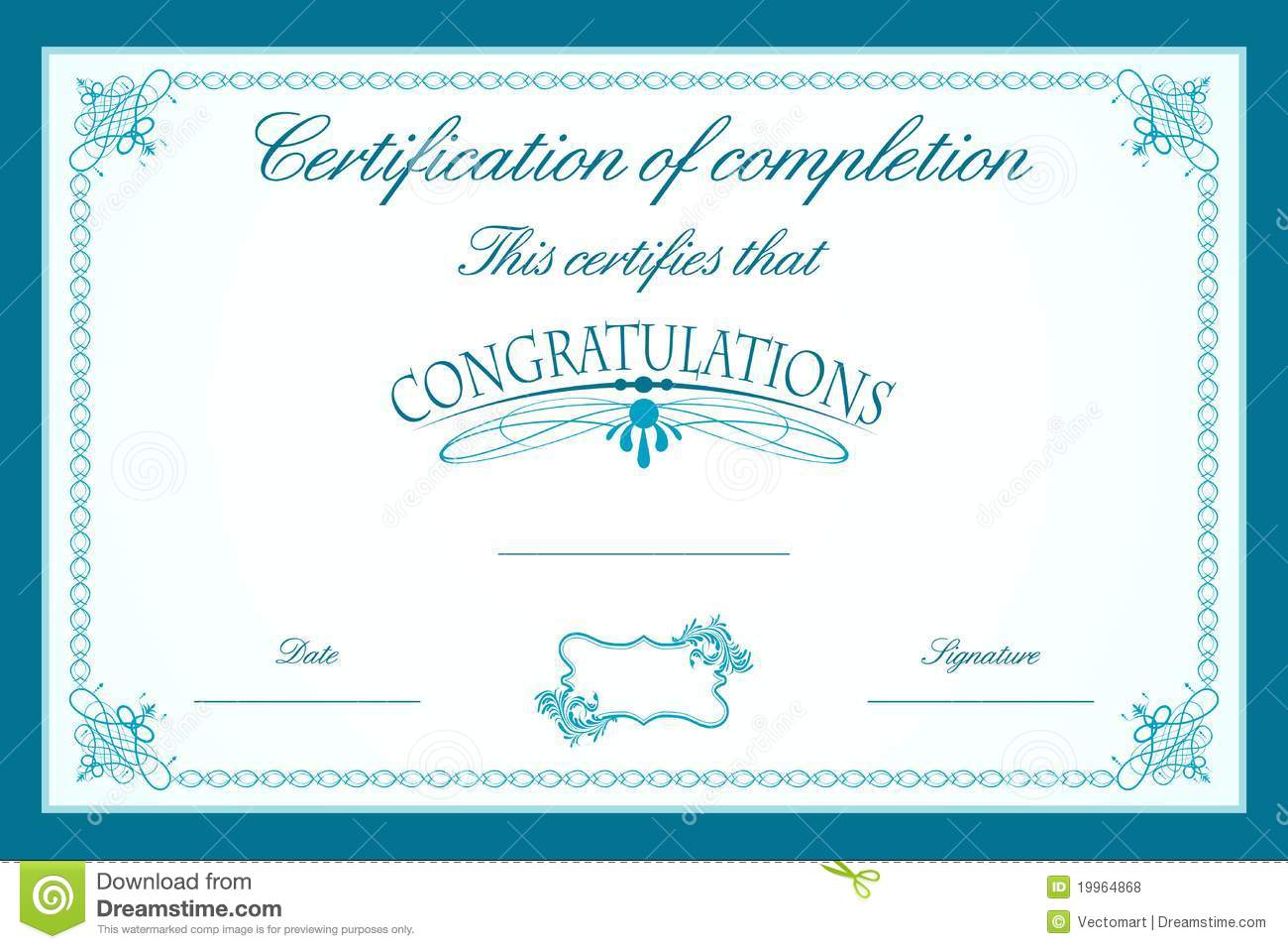 Certificate Border Design Templates