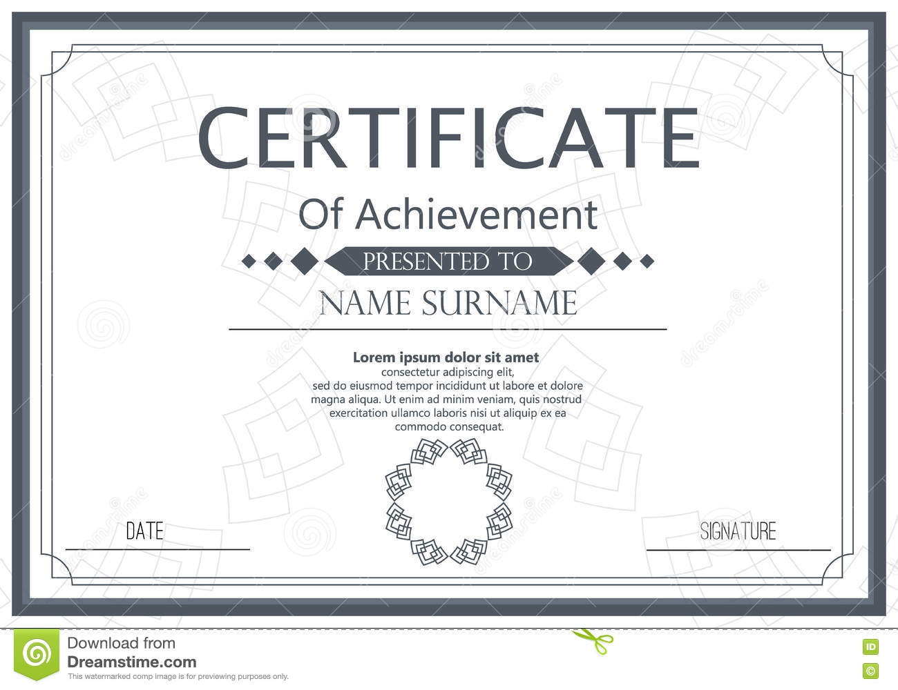Certificate template stock illustration illustration of business certificate template award graduation certificate achievement success template border business paper coupon document certificate ornament elegant frame accmission Choice Image