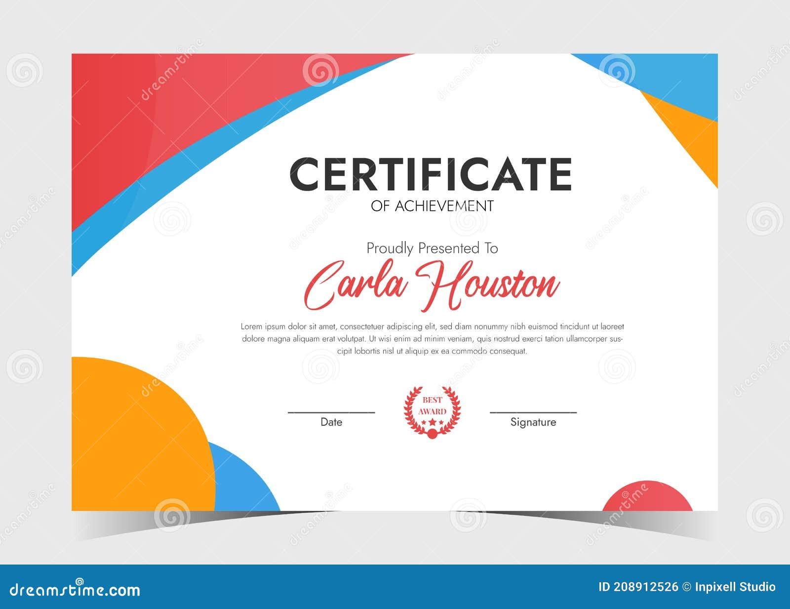 Certificate Template Awards Diploma. Minimalist Certificate With Regard To Professional Award Certificate Template