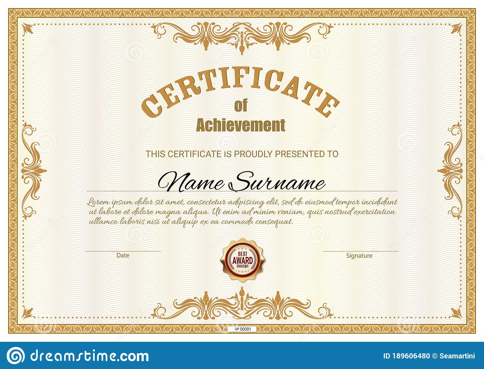Free Award Certificate Template from thumbs.dreamstime.com