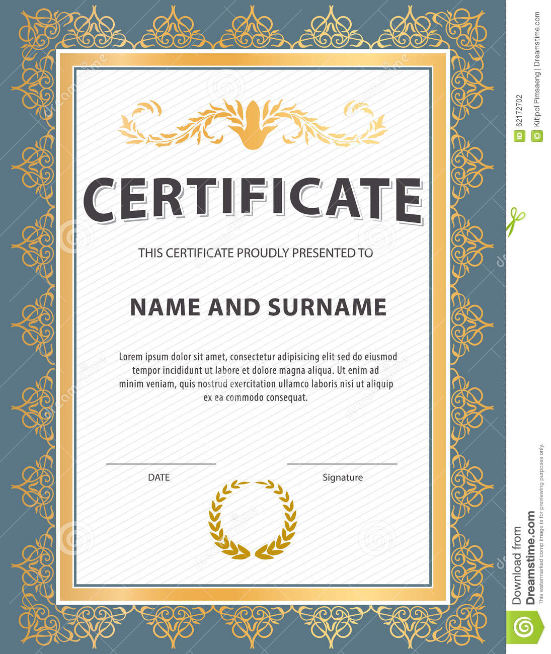 certificate-template-diploma-letter-size-vector-vertical-62172702 Gold Letter Templates on gold invitation templates, gold star templates, gold design templates, gold banners, gold letter fonts, gold business card templates, gold black templates, gold certificate templates, gold letter stickers, gold fish templates,