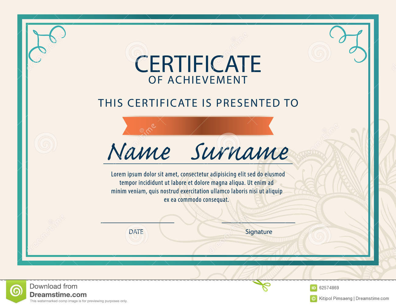 Certificate templatediplomaa4 size stock illustration certificate templatediplomaa4 size royalty free illustration yadclub Image collections