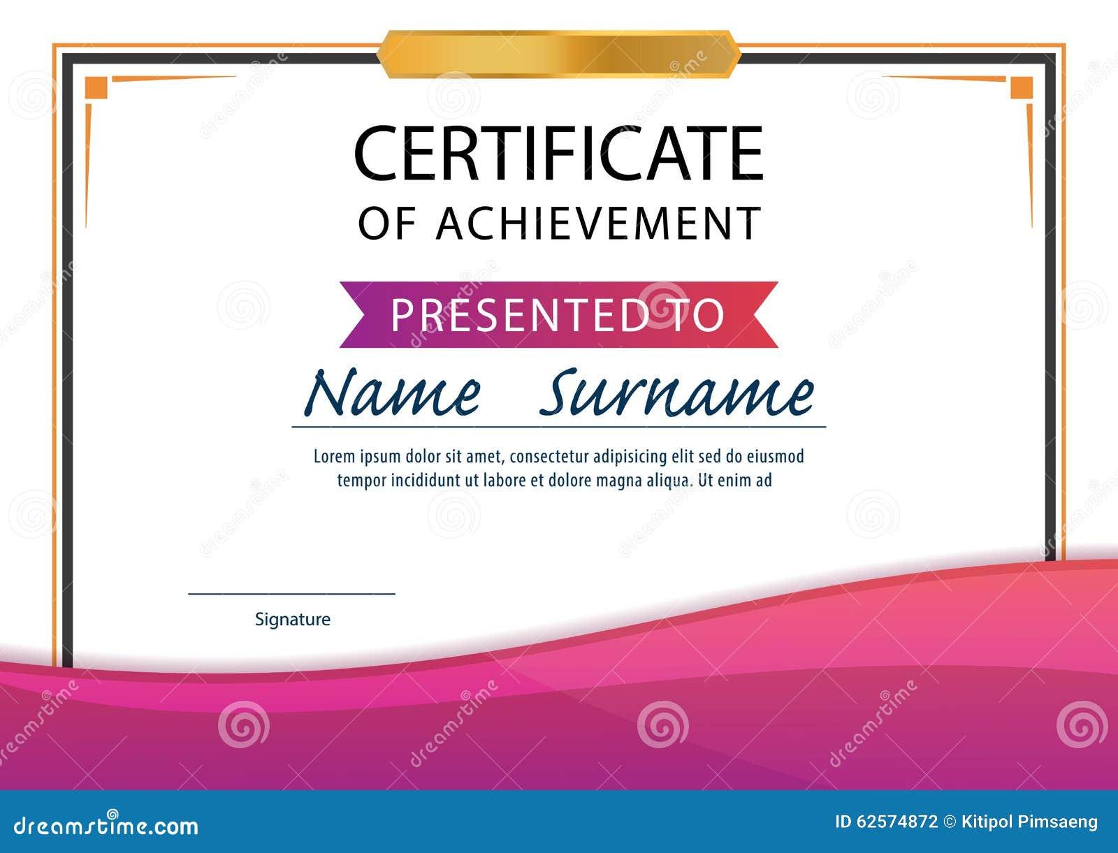 Certificate Templatediplomaa4 Size Vector Illustration 62574872